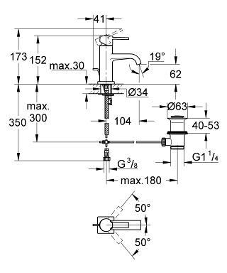 Allure single-lever basin mixer 32757000