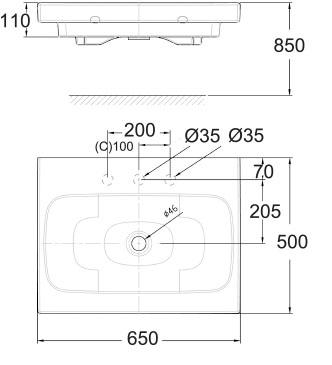 Ids Dynamic 650mm Vessel Wall Hung Basin Wp F635 Wasser